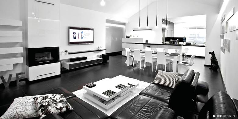 KLIFF DESIGN_Apartament BLACK and WHITE_